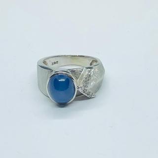 925 silver ブルースターストーンシルバーリング  SR239(リング(指輪))
