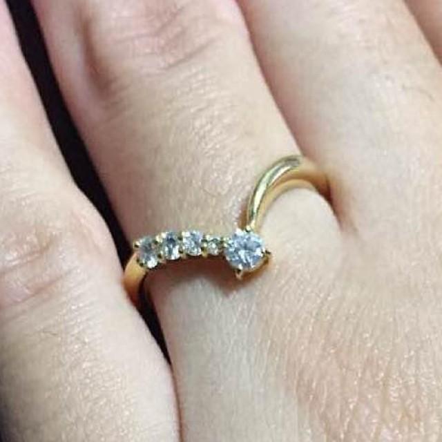 K18ダイヤリング レディースのアクセサリー(リング(指輪))の商品写真