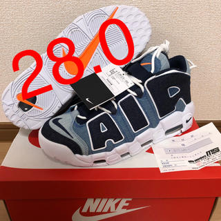 ナイキ(NIKE)の【28.0】NIKE AIR MORE UPTEMPO 96 QS DENIM(スニーカー)