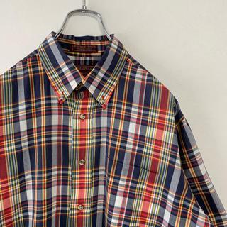 チャップス(CHAPS)の古着 90s Ralph Lauren  CHAPS 半袖 BDシャツ  旧タグ(シャツ)