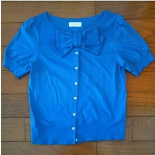ジェーンマープル(JaneMarple)のジェーンマープル リボンのカットソー(カットソー(半袖/袖なし))