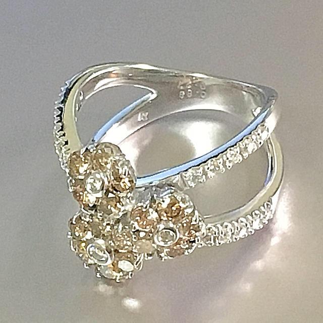 PonteVecchio(ポンテヴェキオ)のポンテヴェキオ♡1.16ct ダイヤ リング♡ポンテ定番のフラワーモチーフです レディースのアクセサリー(リング(指輪))の商品写真