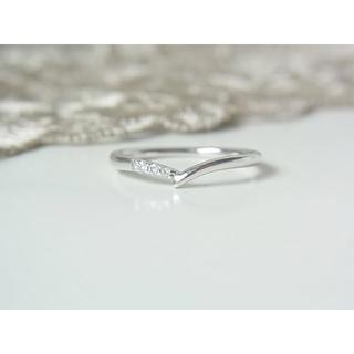 ヨンドシー(4℃)の4℃ ホワイトゴールド ダイヤ リング(リング(指輪))