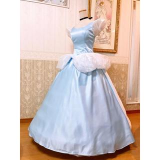 ディズニー(Disney)の❁Dハロ❁シンデレラ ブルードレスデラックス衣装❁新品(その他ドレス)