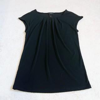 ニジュウサンク(23区)のほぼ未使用 ANN TAYLOR カットソー Tシャツ トップス 黒(カットソー(半袖/袖なし))
