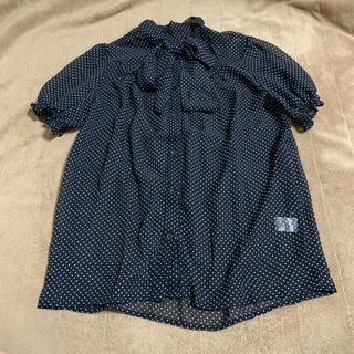 ジーユー(GU)のGU(ジーユー) リボンドット透け感ブラウス(シャツ/ブラウス(半袖/袖なし))
