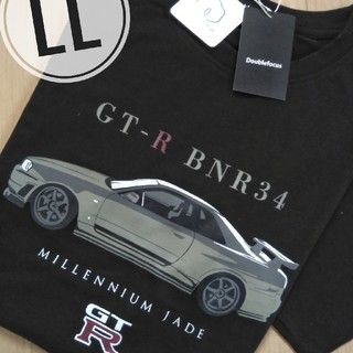 ニッサン(日産)のニッサン スカイライン GT-R メンズLL ブラック(Tシャツ/カットソー(半袖/袖なし))