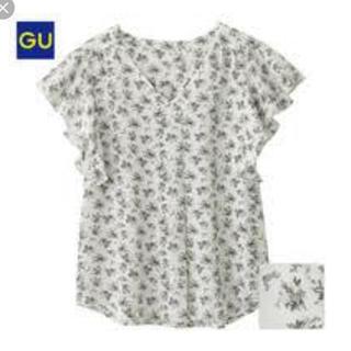 ジーユー(GU)のGU フラワープリントフリルスリーブラウス(シャツ/ブラウス(半袖/袖なし))