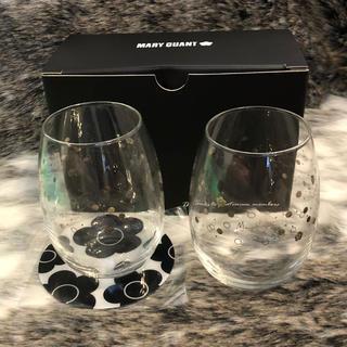 マリークワント(MARY QUANT)の【MARY QUANT】グラス/コップ/ペア/ロゴ/コースター/非売品(グラス/カップ)