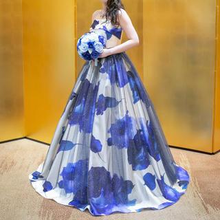 エメ(AIMER)のAIMER カラードレス ブルー(ウェディングドレス)