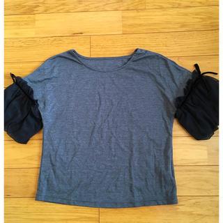ストロベリーフィールズ(STRAWBERRY-FIELDS)の袖チュール トップス  Tシャツ(Tシャツ(半袖/袖なし))
