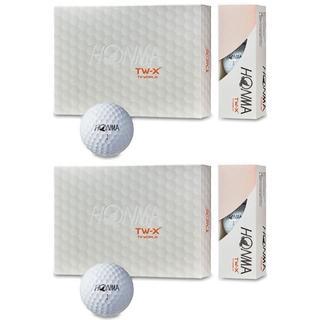 ホンマゴルフ(本間ゴルフ)の【送料無料】本間 ホンマ TW-X ゴルフボール 新品 2ダース 白(その他)