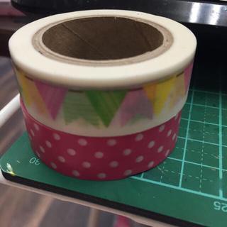 コストコ(コストコ)のマスキングテープ ドット柄&三角旗2個セット✳送料込(テープ/マスキングテープ)