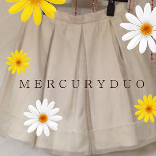 マーキュリーデュオ(MERCURYDUO)のオーガンジーミニスカート(ミニスカート)