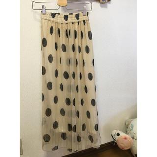 ザラ(ZARA)の♡本日限定お値下♡セレクトショップ購入 ドット プリーツ スカート フリーサイズ(ロングスカート)