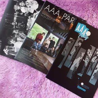 トリプルエー(AAA)の AAAparty会報(国内アーティスト)
