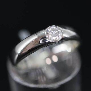 PT1000 プラチナ ダイヤモンド リング 0.283ct(リング(指輪))