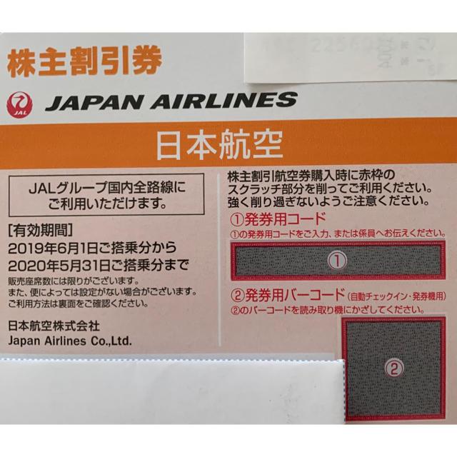 JAL(日本航空)(ジャル(ニホンコウクウ))のJAL 株主割引券 チケットの優待券/割引券(その他)の商品写真