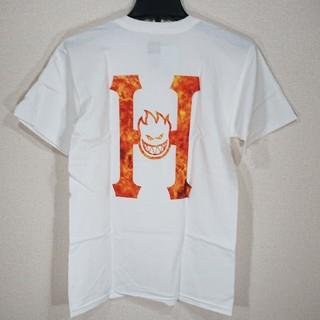 ハフ(HUF)の【S】HUF ハフ/半袖Tシャツ/SPITFIRE FLAMING H SS/白(Tシャツ/カットソー(半袖/袖なし))