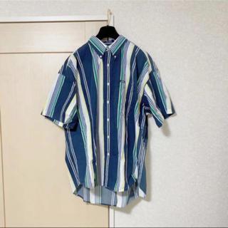 チャップス(CHAPS)のCHAPS チャップス ラルフローレン ストライプ 半袖シャツ XL(シャツ)