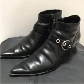 ミュウミュウ(miumiu)のmiumiu ショートブーツ 黒 バックル(ブーツ)