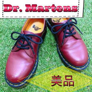 ドクターマーチン(Dr.Martens)のDr. Martens ドクターマーチン プレーン 3ホール 赤 レッド 美品(ブーツ)