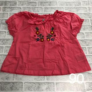 シマムラ(しまむら)のチュニック 90 しまむら 刺繍 半袖 女の子(Tシャツ/カットソー)