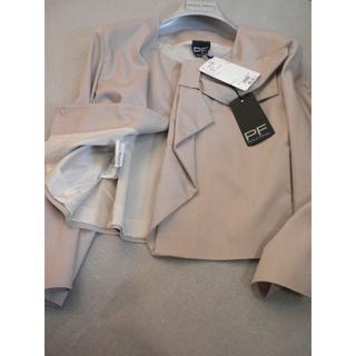 マルニ(Marni)の伊◆パオラフラーニ♪上品グレイッシュピンクベージュ系の大人可愛いジャケット(ノーカラージャケット)
