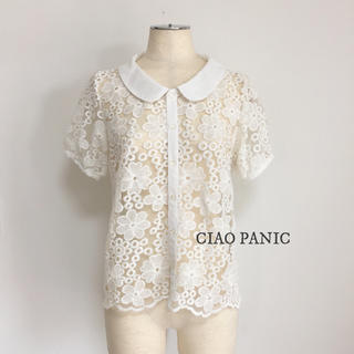 チャオパニック(Ciaopanic)のCIAO PANIC★刺繍レースブラウス(シャツ/ブラウス(半袖/袖なし))