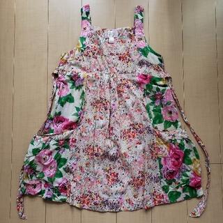 エイチアンドエム(H&M)のH&M ワンピース 花柄 ガーデンコレクション 42(ひざ丈ワンピース)