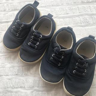 ムジルシリョウヒン(MUJI (無印良品))の無印良品 オーガニックコットンスニーカー 靴 16cm 17cm 16センチ (スニーカー)
