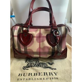 BURBERRY - Burberry ハート柄 ボストンバッグ
