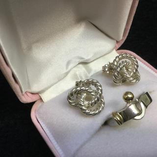 ティファニー(Tiffany & Co.)の【美品☆希少】ティファニーリングK18(750)シルバー&ロープデザインピアス(リング(指輪))