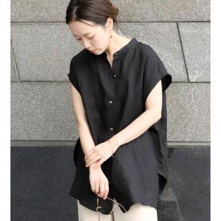 プラージュ(Plage)のPlage Cocoon ブラウス ブラック(シャツ/ブラウス(半袖/袖なし))