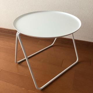 ムジルシリョウヒン(MUJI (無印良品))のコンパクトサイドテール 白(コーヒーテーブル/サイドテーブル)