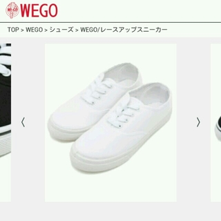 WEGO(ウィゴー)のWEGO白スニーカー レディースの靴/シューズ(スニーカー)