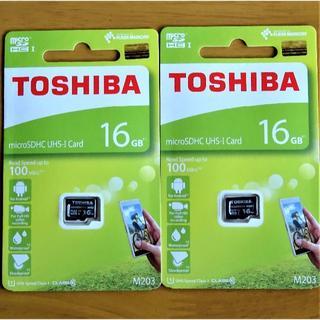 トウシバ(東芝)の未開封 Toshiba 高速Miceo SD UHS-Ⅰ 16GB 2枚(その他)