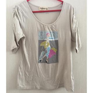 エルプラネット(ELLE PLANETE)のELLE PLANETE 袖シャーリング Tシャツ(カットソー(半袖/袖なし))
