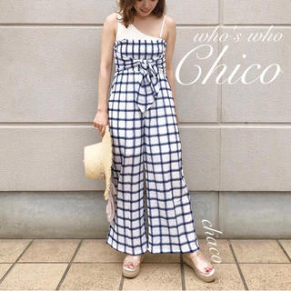 who's who Chico - 僅か⚠️夏🍉¥7452【Chico】チェック柄2wayベアパンツ サロペット