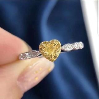 ♡ハートF.L.Yellowダイヤモンドリング(リング(指輪))