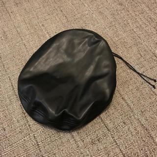 ジーナシス(JEANASIS)のくるくる様専用 JEANASIS レザー ベレー帽  美品(ハンチング/ベレー帽)