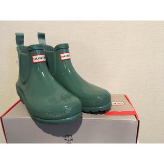 ハンター(HUNTER)の【新品未使用】HUNTER ハンター レインブーツ グリーン(レインブーツ/長靴)