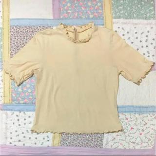 ロキエ(Lochie)の古着 vintage フリルトップス(カットソー(半袖/袖なし))
