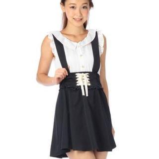 リズリサ(LIZ LISA)のLIZ LISA☆新品♪Tralala*サス付2wayレースアップフレアスカート(ひざ丈スカート)