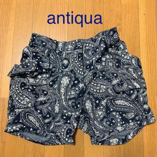 アンティカ(antiqua)のantiqua♦ペイズリー柄ショートパンツ(ショートパンツ)