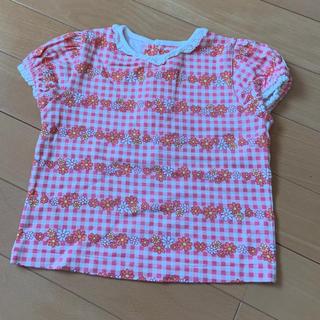 シャーリーテンプル(Shirley Temple)のShirley Temple 花柄 Tシャツ 80(シャツ/カットソー)