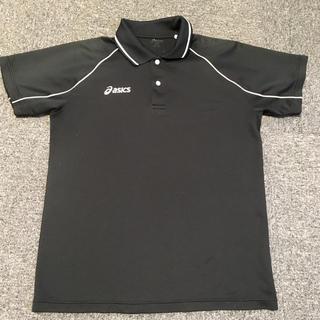 アシックス(asics)のアシックス ポロ M 黒(ポロシャツ)