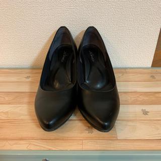 黒パンプス 21.5(ハイヒール/パンプス)
