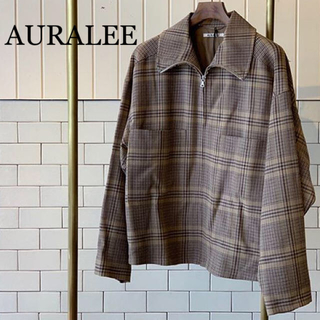 AURALEE オーラリー Wool Serge Check  Blouson