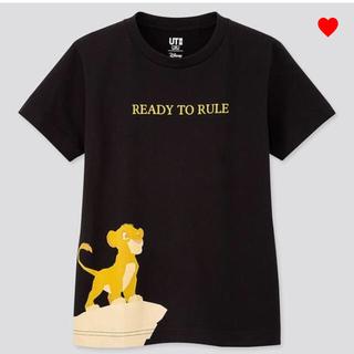 ユニクロ(UNIQLO)の完売 ライオンキング 120 ユニクロ 女の子 男の子 半袖 シンバ ディズニー(Tシャツ/カットソー)